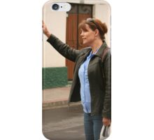Woman Flagging Down a Taxi iPhone Case/Skin