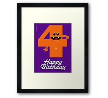 HAPPY BIRTHDAY 4 Framed Print