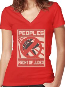The People Front of Judea Women's Fitted V-Neck T-Shirt
