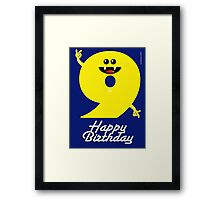 HAPPY BIRTHDAY 9 Framed Print