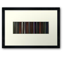 Moviebarcode: Coraline (2009) Framed Print