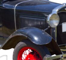 Antique Black Ford Model A Roadster Sticker