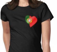 Portuguese Flag - Portugal - Heart Womens Fitted T-Shirt