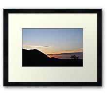 Bavarian sunset. Framed Print