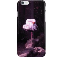 yoga white crane iPhone Case/Skin