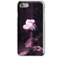 yoga white crane iPhone Case/Skin