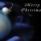 Merry Christmas - Dark bauble by Gillian Cross