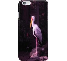 staring white crane iPhone Case/Skin