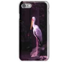 staring white crane iPhone Case/Skin