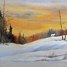 Sunset on Snow by bevmorgan
