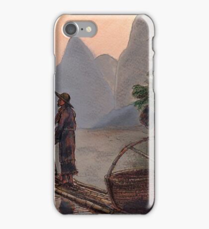 Li River Night Fisherman iPhone Case/Skin