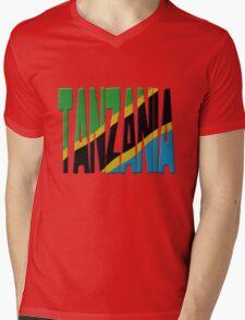Tanzania flag Mens V-Neck T-Shirt