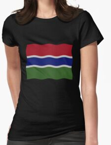 Gambia flag Womens Fitted T-Shirt