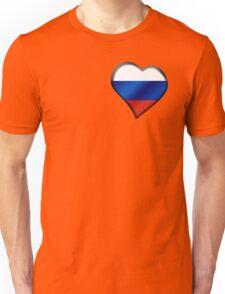 Russian Flag - Russia - Heart Unisex T-Shirt