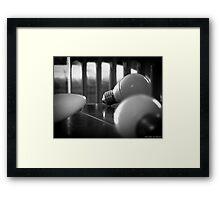 Light bulb Framed Print