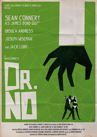 Minimalist Movie Poster: Green Dr No by AlainB68