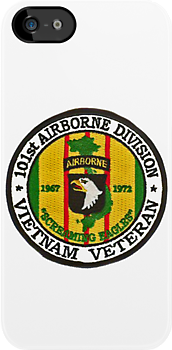 101st Airborne Patch Round - iPhone Case by Buckwhite