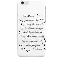 Marauders Map Mr Moony iPhone Case/Skin
