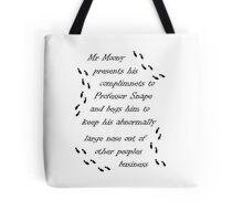 Marauders Map Mr Moony Tote Bag