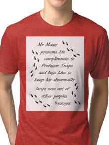 Marauders Map Mr Moony Tri-blend T-Shirt
