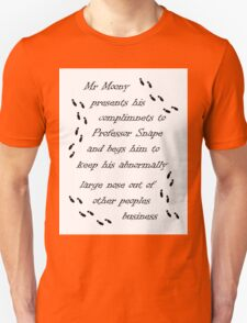 Marauders Map Mr Moony Unisex T-Shirt