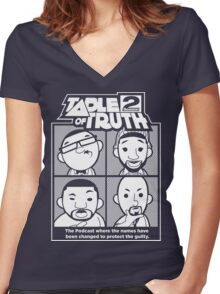 The Table of Truth Faces Logo Tee Women's Fitted V-Neck T-Shirt