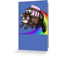 catbus nyan Greeting Card