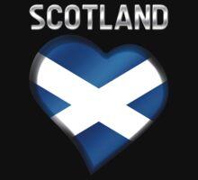 Scotland - Scottish Flag Heart & Text - Metallic by graphix