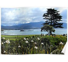 Pebble Beach's 18th Fairway Poster