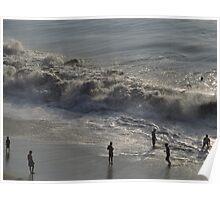 High waves - Olas altas at Olas Altas Beach, Puerto Vallarta, Mexico Poster
