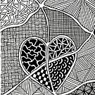 Zentangle Heart iPhone Case by Hilda Rytteke