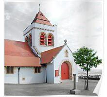 Lossiemouth Church Scene Poster