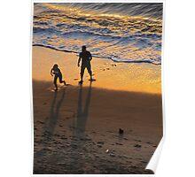 Playing with the waves - Jugando con las olas Poster