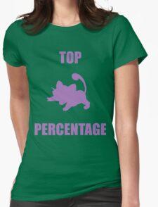 Ratatta: TOP PERCENTAGE (Purple) Womens Fitted T-Shirt