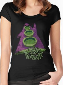 Day of the Tentacle (Distressed) Women's Fitted Scoop T-Shirt