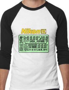 Nikon FX Control Panel Men's Baseball ¾ T-Shirt