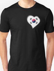 South Korean Flag - South Korea - Heart Unisex T-Shirt