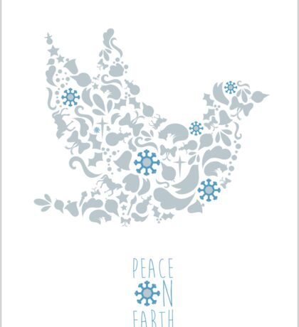 Peace on Earth- Dove Christmas Design Sticker