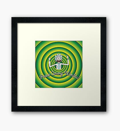 Peace among worlds, Folks! Framed Print