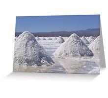 Salt Piles Greeting Card