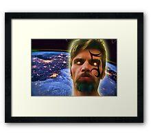 Gemini above Earth Framed Print