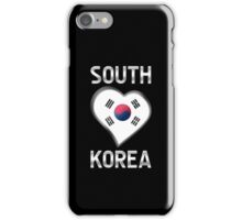 South Korea - South Korean Flag Heart & Text - Metallic iPhone Case/Skin