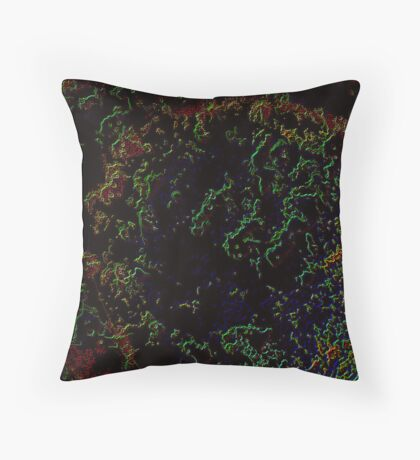 Prolific Particles Minding God Throw Pillow