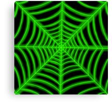 spider web (green glowing) Canvas Print