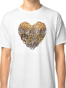 Heart shape made of metal pinions and sprockets Classic T-Shirt