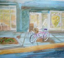 The Parked Pink Cruiser by Jeanne Allgood