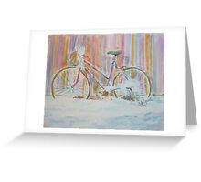 Abandoned Girlie Bike Greeting Card