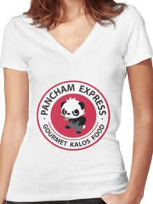 Pancham Express Women's Fitted V-Neck T-Shirt