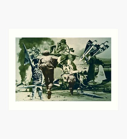 Salute to all Those Beautiful People at War. Art Print
