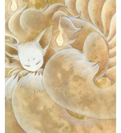 Sleeping Ninetails - Kitsune Fox Yokai Sticker